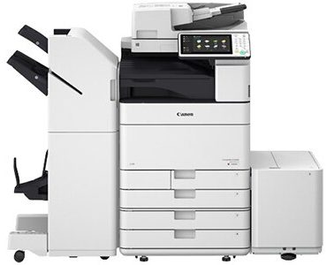 Canon imageRUNNER Advance C5535i prints up to 35 ppm (BW/Color) and scans up to 160 ipm (300 dpi) (BW, color, duplex). Its single-pass, duplexing document feeder holds up to 150 originals. Features motion sensor technology to wake from Sleep mode and the ability to remove blank pages when scanning. Prints striking images using Canon's V2 color profile and 1200-dpi print resolution. ENERGY STAR certified and rated EPEAT Gold.